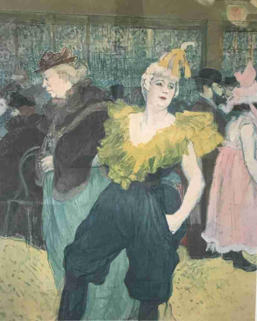 Henri de Toulouse-Lautrec The Clowness at the Moulin Rouge Original Art Nouveau Lithograph