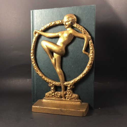 Art Deco Nude Scarf Dancer Bookends