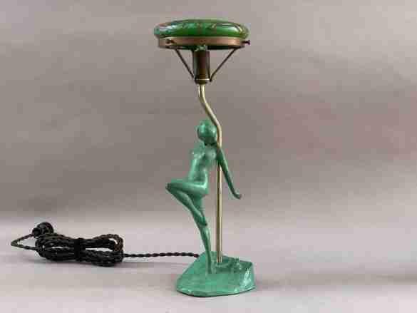 Frankart Art Deco Nude Dancer Lamp