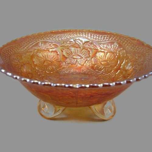carnival glass bowl