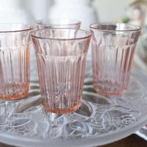 Vintage Pink Depression Glasses