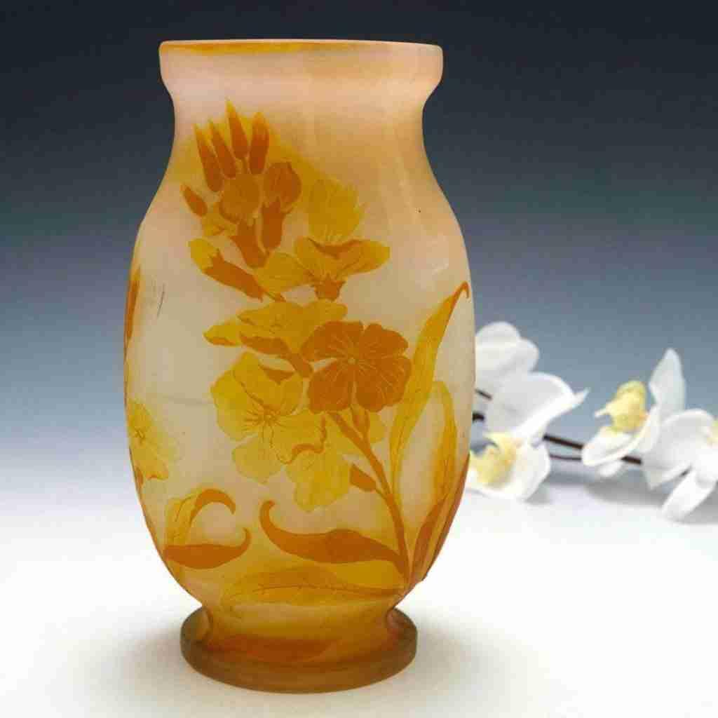 Émile Gallé Cameo Glass Vase. c. 1900