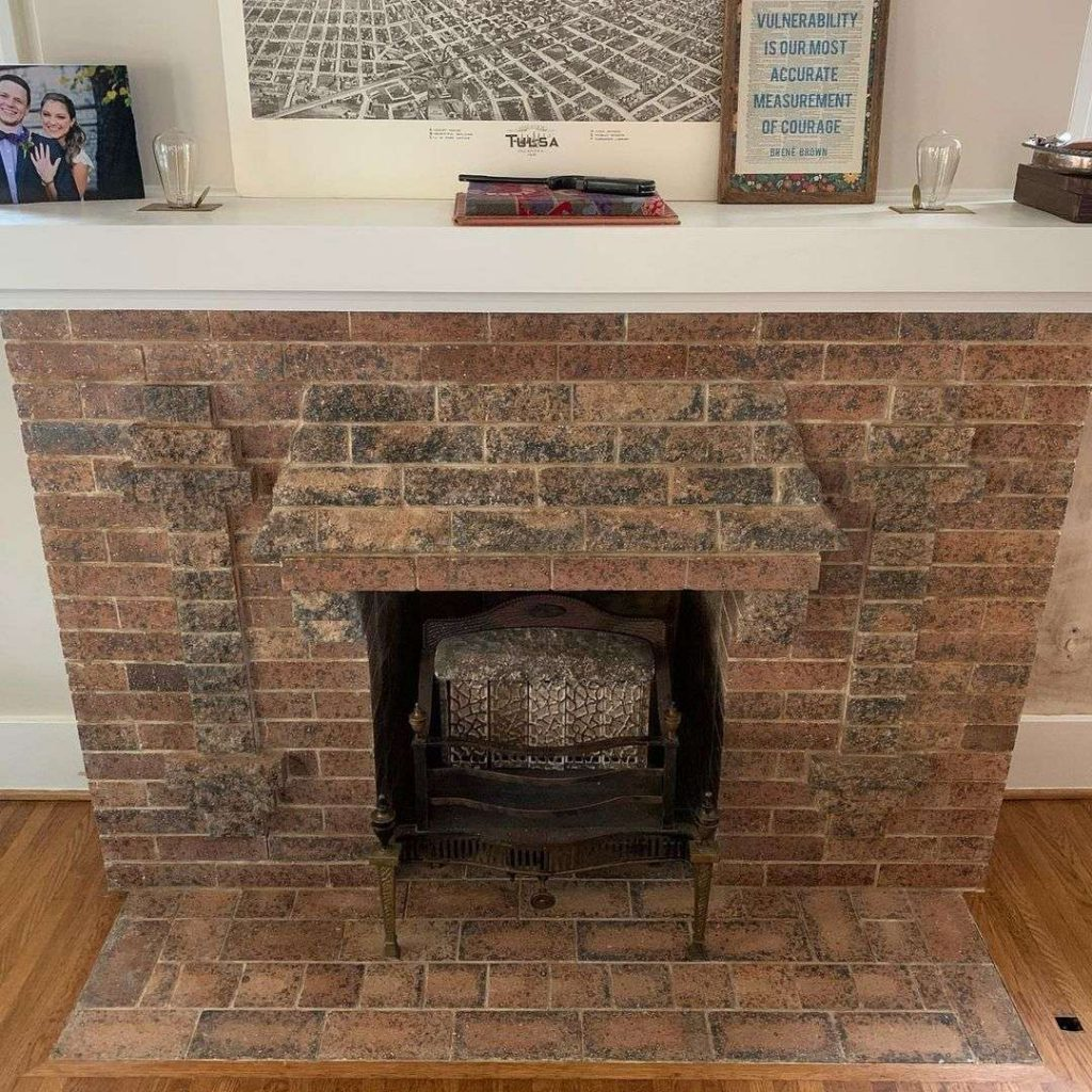 brick fireplace restoration