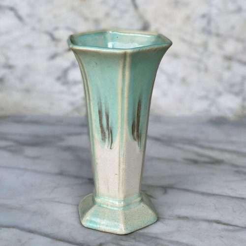 Vintage Japanese Turquoise Flared Vase
