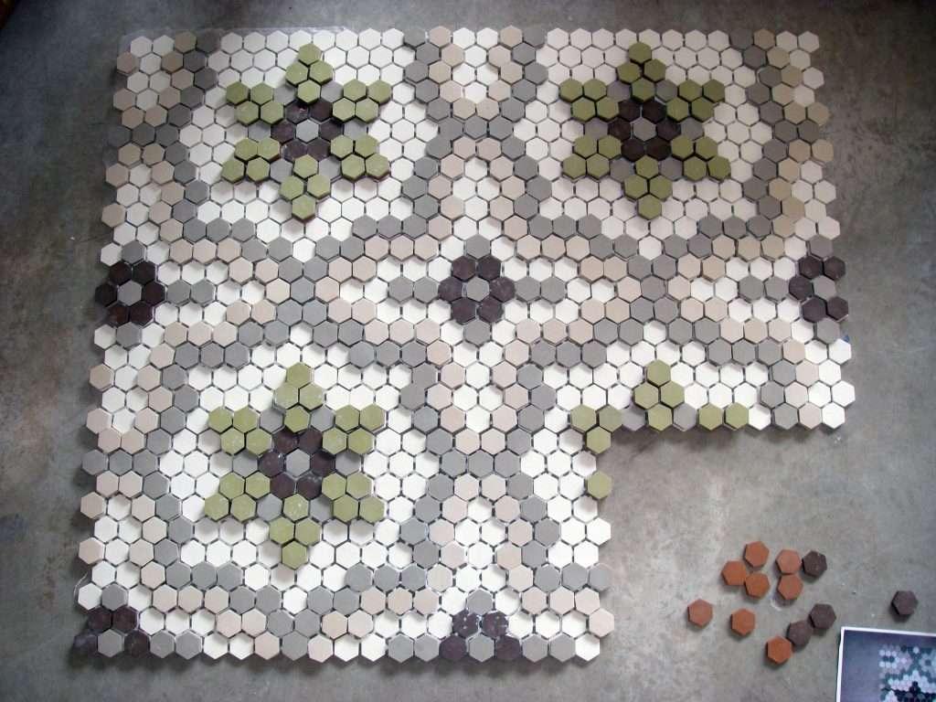 antique mosaic tile reproduction