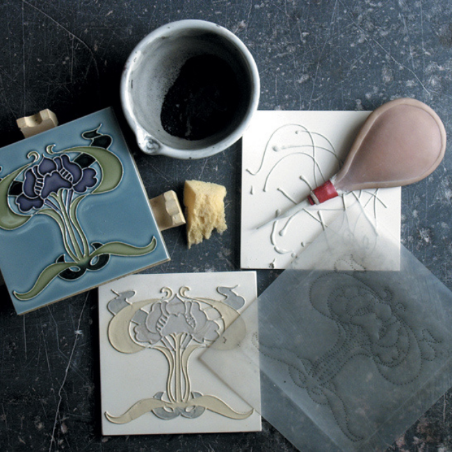 antique arts and crafts tiles