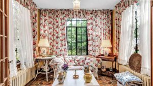 old house fabrics for window treatments