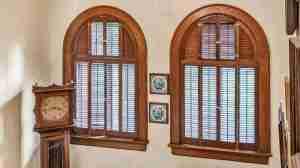 antique arched wood windows